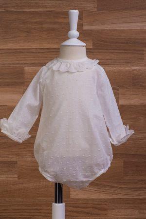 Blusa body de bebe en plumeti