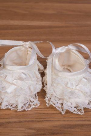 Zapatos bautizo bebé organdi