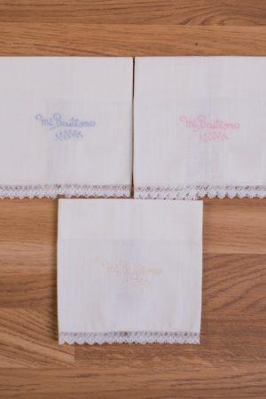 Pañuelo bautizo lino bordado sencillo