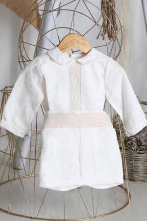 Conjunto bautizo lino niño - Ref. 39896