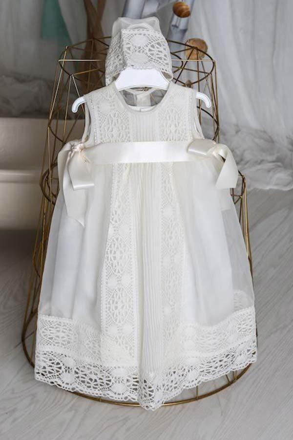 Faldón bautizo cristal con capota - Ref. 13495 fondo