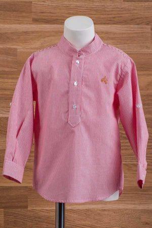 Camisa de niño cotton con rayas - Ref. 22750