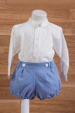 Conjunto de bebé, pantalón goma y blusa plumeti - Ref. 35420