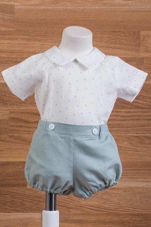 Conjunto de bebé, pantalón goma voilé topos - Ref. 35430