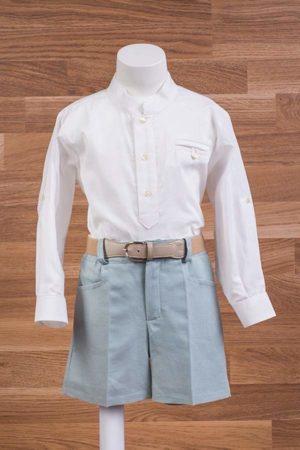 Conjunto de niño, camisa lino y pantalón con cinturón