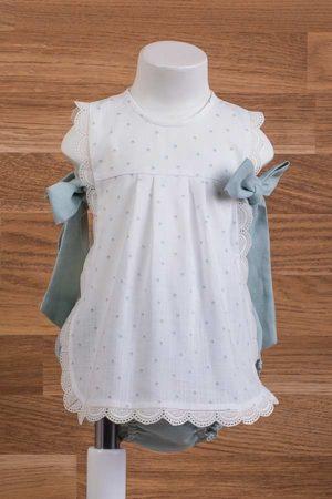 Jesusito de bebé voilé con topos - Ref. 50030