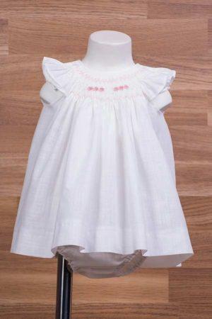 Jesusito de bebé en lino con punto inglés - Ref.50529