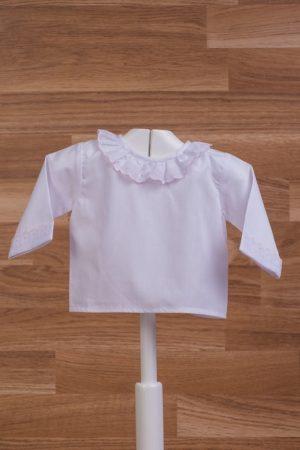 Blusa de manga larga para bebé tejido popelín