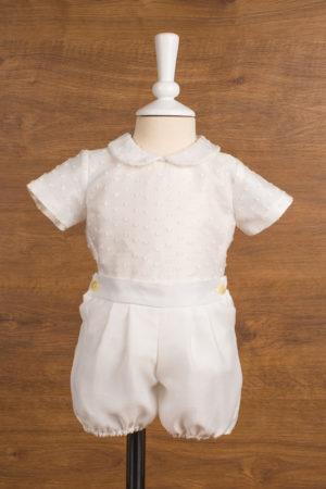 Conjunto de bebé en muselina con topos